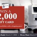 LINEN CHEST – Win a $2,000 Gift Card
