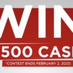 Win $2500 Cash | Tip Top