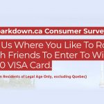 Win a $250 VISA Gift Card from Sparkdown.ca