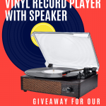 Vinyl Record Player Speaker Giveaway • Steamy Kitchen Recipes Giveaways