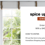 Spice up the Season Sweepstakes